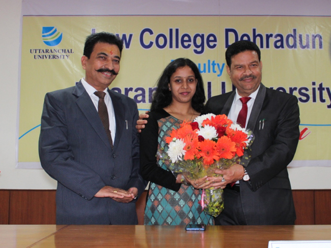 akanksha pandey jjudge in bihar uttranchal university, dehradun
