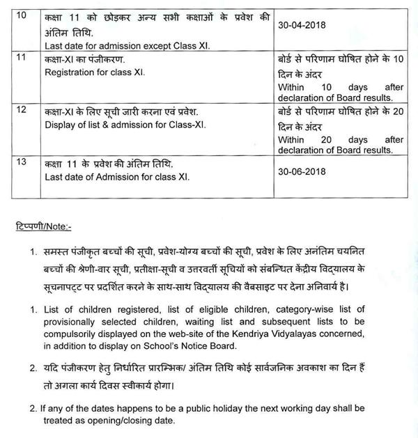 kv admission 2018 india