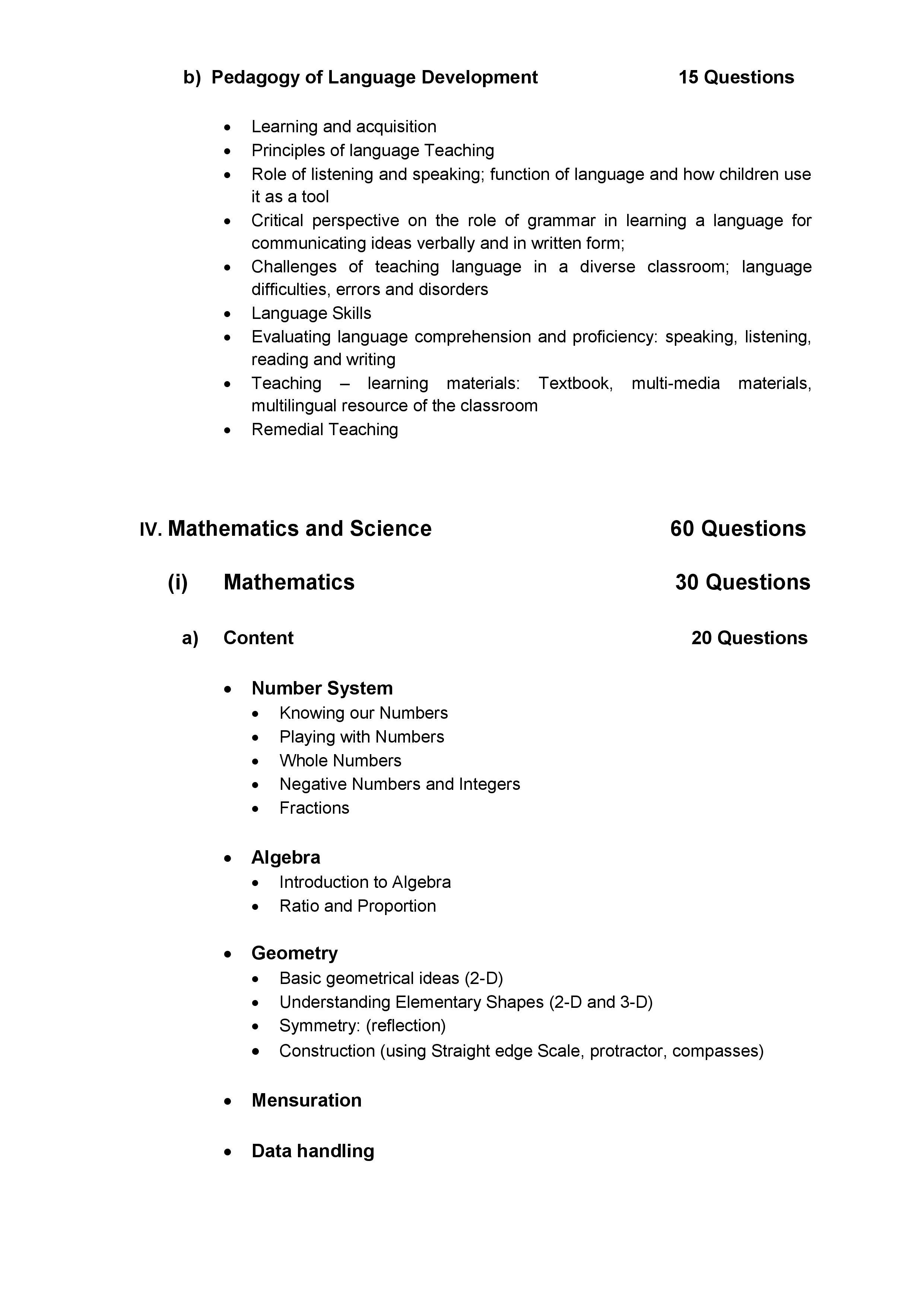 Ctet syllabus 6