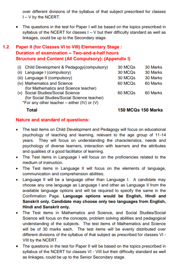 Ctet 2018 paper pattern