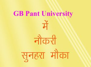 gb pant university, recruitment, gbpu pantnagar, jobs in uttarakhand, job after llb, job after agriculture, job after iti, uttarakhand