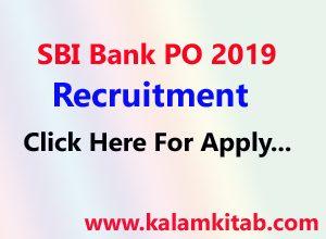 SBI Bank PO Recruitment 2019, एसबीआई बैंक प्रॉबेशनरी ऑफिसर, भर्ती, sbi bank job, sbi po job, sbi bank po application, bank po exam, ibps