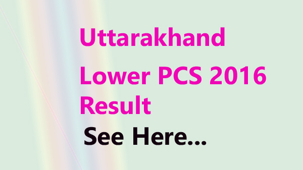 uttarakhand lower pcs