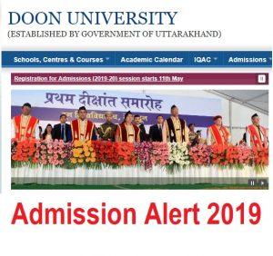 Doon university courses