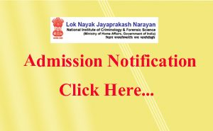LNJN, National Institute Of criminology And Forensic Science, एडमिशन, criminology admission, admission after graduation
