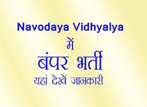 Navodaya Vidhyalya, Recruitment 2019, nvs jobs, navodaya vidhyalya teacher job, nvs bharti, navodaya vidhyalya bharti, नवोदय विद्यालय भर्ती