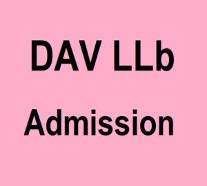 Dav llb admission