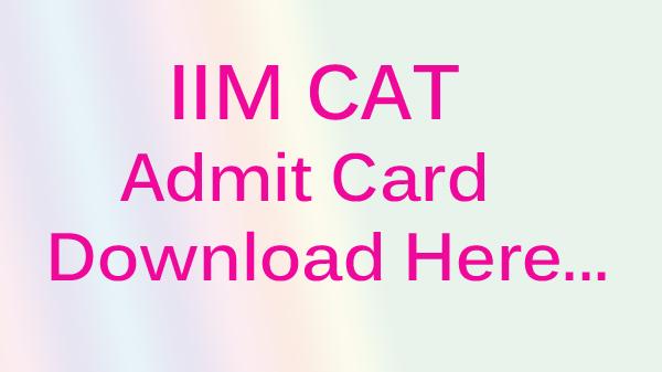 iim cat admit card