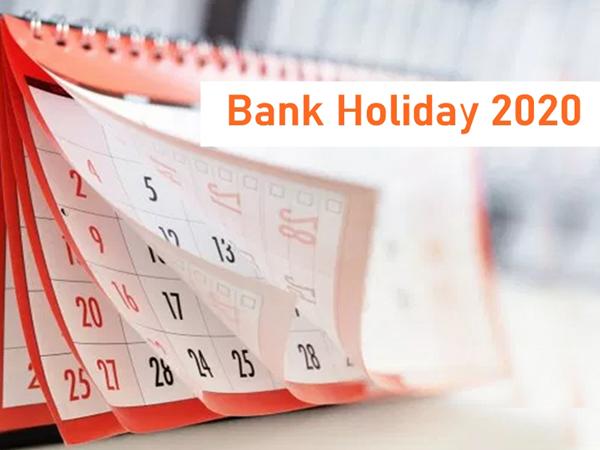 bank holiday 2020