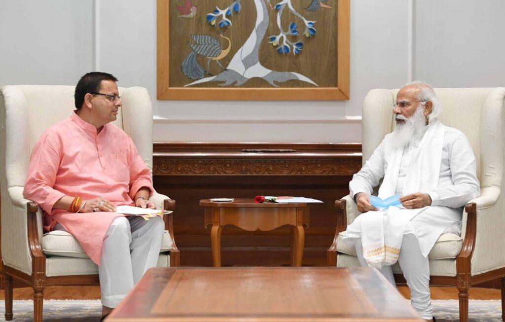 Uttarakhand cm meet to pm modi