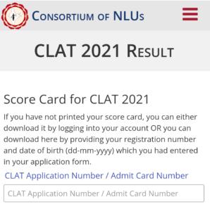 Clat 2021 result